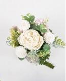Balta muilo gėlių kompozicija