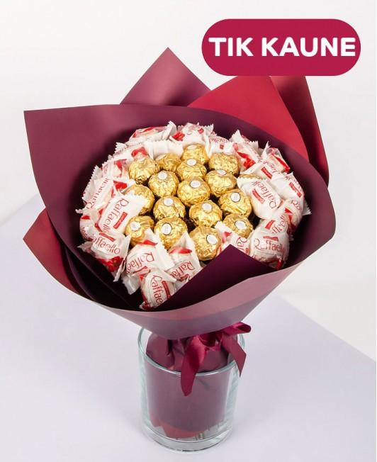 Saldainių puokštė (Raffaello, Ferrero Rocher)