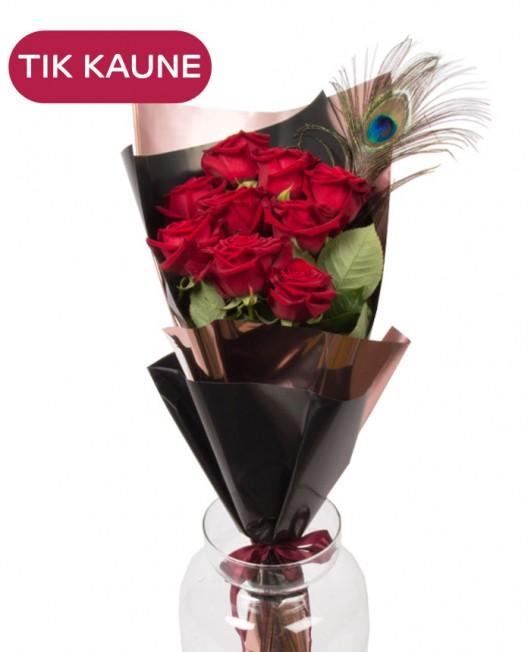 Elegantiška rožių puokštė