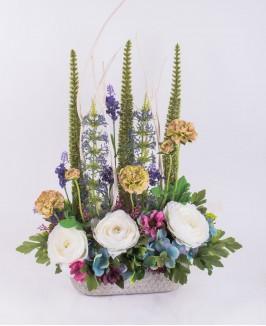 Dirbtinių gėlių kompozcija K2