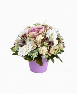 """Dirbtinės gėlės """"Violet"""" vazonėlyje"""