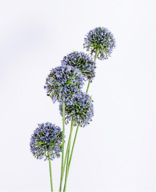 """Mėlynos spalvos dirbtinės gėlės """"Česnakai"""""""