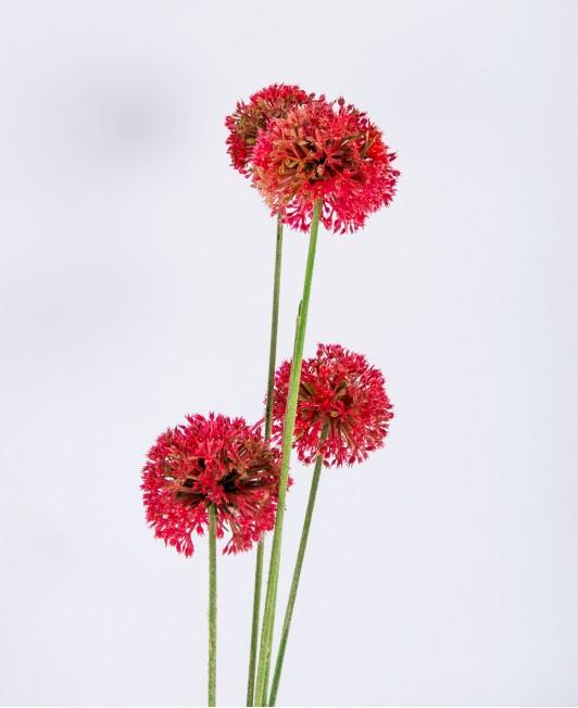 """Raudonos spalvos dirbtinės gėlės """"Česnakai"""""""