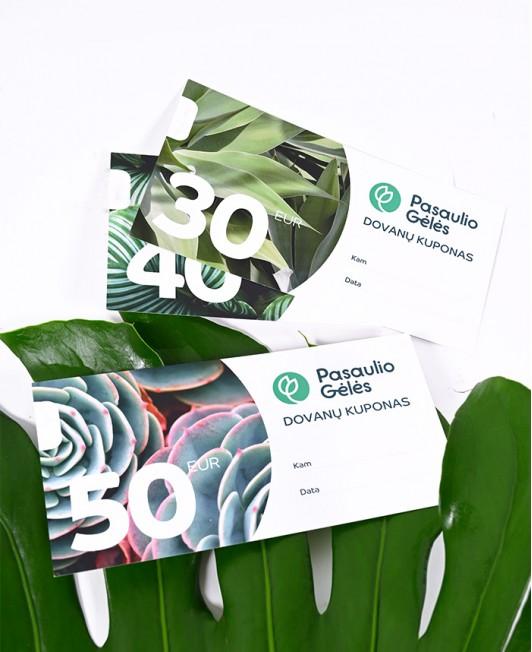 """""""Pasaulio Gėlės"""" dovanų kuponas"""