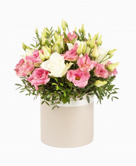 Rožių ir eustomų dėžutė