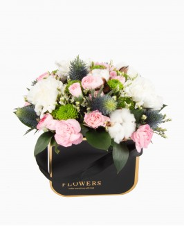 Gėlių dėžutė su medvilne