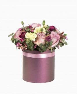 Įvairių gėlių dėžutė