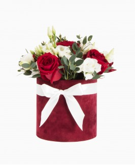 Gėlės aksomo dėžutėje