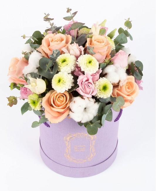 Pastelinių gėlių dėžutė