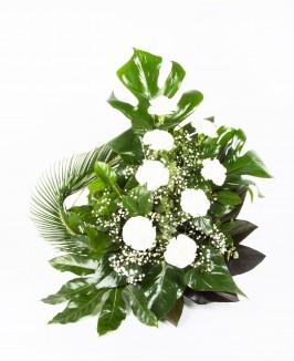 Gedulinga gėlių kompozicija su gvazdikais