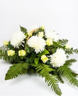 Gyvų ir dirbtinių gėlių kompozicija