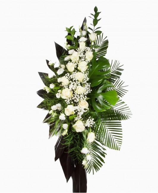 Didelė gedulo gėlių kompozicija