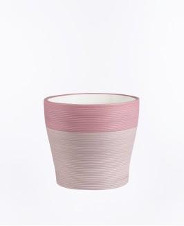 Rožinės spalvos vazonas