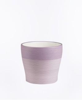 Violetinės spalvos vazonas