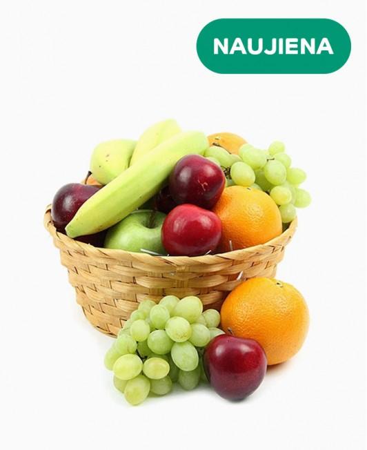 Įvairių vaisių krepšys