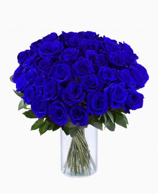 Mėlynos spalvos rožės