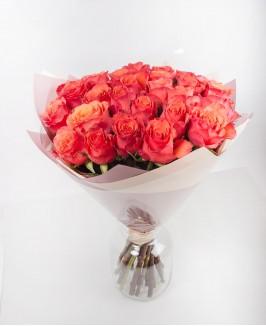 Oranžinės spalvos rožės 2