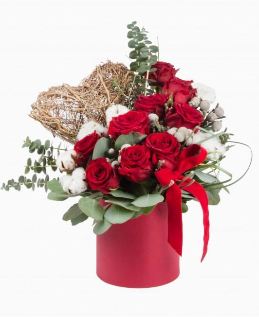 """Gėlių dėžutė """"Valentino diena"""""""
