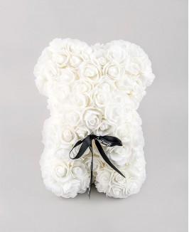 Kvepiantis gėlių meškiukas (baltas)