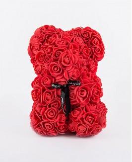 Kvepiantis gėlių meškiukas (raudonas)